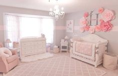 Below are a few baby girl nursery pattern ideas for all of personal design, sheet, and home furnishings baby nursery ideas Blush Nursery, Nursery Room, Nursery Decor, Pink And Grey Nursery Baby Girl, Baby Girl Rooms, Baby Girl Nursery Themes, Princess Nursery Theme, Baby Girls, Girl Nursery Rugs