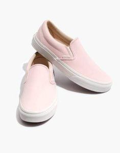 4059dec6734 Madewell Vans Unisex Vansbuck Classic Slip-On Sneakers in Pink. Leather ...