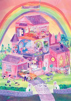 Dreamhouse - Sophie Bryant-Fuller illustration