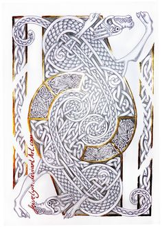 Celtic Dragons IX by Feivelyn on DeviantArt Plus