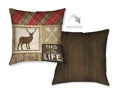 Country Cabin IV Decorative Pillow – Laural Home