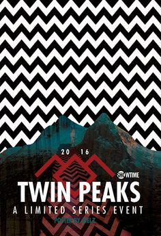 Poster design for alternative marketing outlets for the third season of Twin Peaks, releasing in 2016.  Designed by jselz