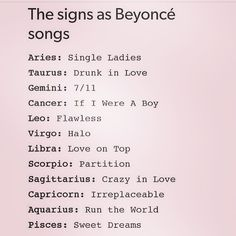 I am a cancer and If I Were A Boy is the only song I know from Beyoncé so...yeah...true