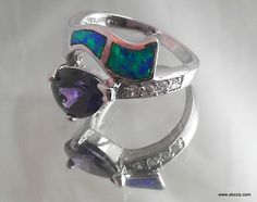 sz.8 Stunning Lab Fire Opal & Amethyst Ring http://www.listia.com/auction/21046911-sz-8-stunning-lab-fire-opal-amethyst