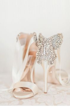 Everybody has heard of the story of Cinderella and her glass slippers and how she found her prince charming through the slippers. Though the bridal shoes today might not help you find the prince charming, they are de... #weddingflowers #weddinghair