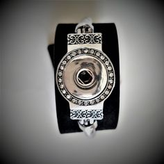 Snap Bracelet Clear Rhinestones Single Snap by BerryBoutiqueDesign