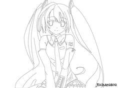 resultado de imagem para hatsune miku chibi para colorir | para ... - Hatsune Miku Chibi Coloring Pages