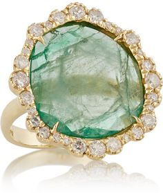 Kimberly McDonald 18-karat gold, emerald and diamond ring on shopstyle.com