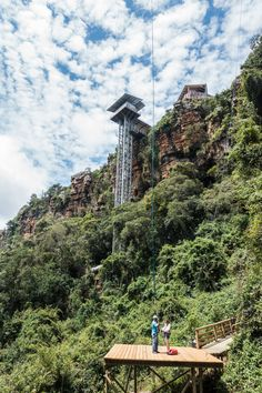 The Panaroma Route just got a new tourist attraction. In December 2017 the Graskop Gorge Lift opened to the public, adding another must-do stop to this already impressive scenic drive. Overseas Travel, Africa Travel, Homeland, Wander, Places Ive Been, South Africa, Places To Visit, Castle, World