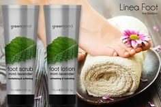 Mint and lavender are two essential ingredients of a complete line of body care Greenland: I have tested for you scrub and moisturizer for the feet. I am absolutely satisfied: regenerate the feet, which remained closed for too long during the winter, giving softness and a unique fragrance! The scrub is to use absolutely every week, while the cream every day after showering, to find wealth and happiness!