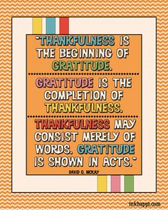 42 fabulous gratitude quotes and many free printables as well at inkhappi.com