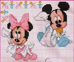 Bébé - baby - disney - point de croix - cross stitch - Blog : http://broderiemimie44.canalblog.com/