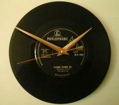 The beatles - please please me   7  record  clock  gift birthday xmas