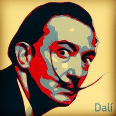 Mt #vectorial #portrait of #dalí #vectorialworks #illustrati by #diegosarti #vector #vectorart #vectorizer #salvadordali #dali #Padgram