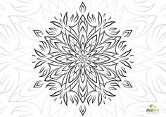 Angel flower http://dicebird.com/angel-mandala-flower-coloring-for-adults/