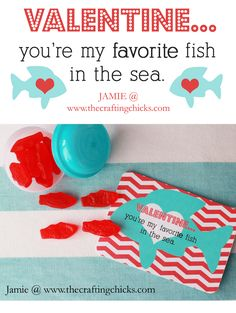 Sharing my fish valentine printable today! I bought Swedish Fish and these plastic capsules from Bake it Pretty! (I LOVE Bake it Pretty-cutest online party/baking supply shop!) The capsules resemble little fish bowls for the red fish! So cute! LOVE how it turned out. Link for my printable download below:) Valentine Fish Printable {All printables …