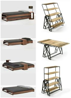multifunctional furniture - Furniture & Furniture Restoration Ideas - Hi Buddy, How you doin? Furniture With Free Delivery Discover recipes, home ideas, style inspiration and other ideas to try. Folding Furniture, Loft Furniture, Multifunctional Furniture, Smart Furniture, Modular Furniture, Space Saving Furniture, Metal Furniture, Furniture Design, Furniture Ideas