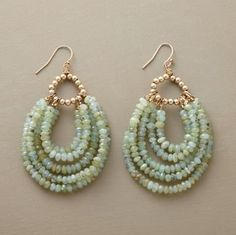 Beaded loop earrings @ Sundance - sold out. I can make something similar to these,  I'm on facebook Elegant Mayhem.