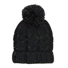 Buy SWELL Cuffed Cable Knit Pom Pom Beanie Char Marle with great prices, Free Delivery* & Free Returns at surfdome.com.