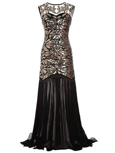 Find MAYEVER Women 's Black Sequin Gatsby Maxi Long Ball Evening Prom Dress Headband online. Shop the latest collection of MAYEVER Women 's Black Sequin Gatsby Maxi Long Ball Evening Prom Dress Headband from the popular stores - all in one Cheap Evening Gowns, Sequin Evening Dresses, Prom Party Dresses, Formal Dresses, 1920s Evening Dress, Dress Party, Wedding Dresses, Fringe Flapper Dress, Chic