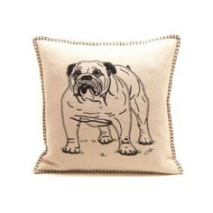 oh come on bulldog pillow..it's like they made this with me in mind.