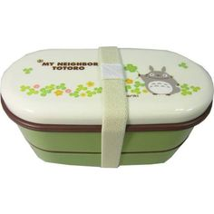 Totoro Round 2-tier Bento Box w/Chopsticks Clover ❤ liked on Polyvore featuring home and kitchen & dining