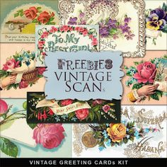 Freebies Vintage Greeting Cards
