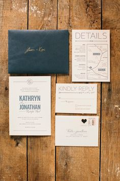 Invitation set // Love the invitation concept, with different styling //
