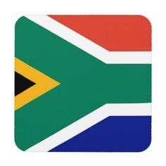 Keep your table protected with Flag coasters from Zazzle! Africa Flag, Drink Coasters, South Africa, African, Gifts, Presents, Coasters, Gifs, Favors