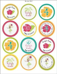All Blush Printables tags and labels Luau Party Cupcakes, Cupcake Flags, Free Printable Gift Tags, Sweet Sixteen Parties, Baby Girl Birthday, Personalized Labels, Party Packs, Papers Co, Sticker Paper