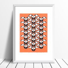 """Toucans"" print (coral) - framing available"