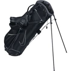 Nike Golf Access II Carry Stand Bag 2013 - Black Charcoal Silver