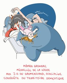 Petit précis de Grumeautique - Blog illustré Super Mum, Bad Mom, French Expressions, Inktober, Baby Led Weaning, Funny Cards, Mother And Child, Illustrations, Character Concept