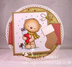 Hello, Lisa here with a couple of Christmas Bobbi creations to show you. This one is using Bobbi and Xmas Tree .