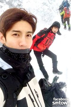 150105 SHINee official facebook update Minho with TVXQ Changmin