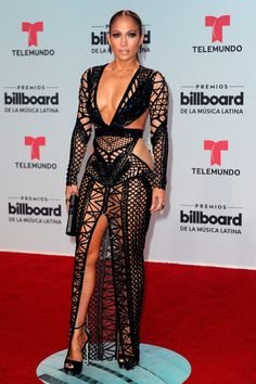 Jennifer Lopez Wore Not One But Two Naked Dresses On The Red Carpet Last Night - Jennifer Lopez Naked Dress Billboard Latin Music Awards 2017 – Jennifer Lopez Naked Dress Red Car - Sexy Dresses, Club Dresses, Celebrity Pictures, Celebrity Style, Celebrity Dresses, Beautiful Frocks, Versace Gown, Jennifer Lopez Photos, Jennifer Lopez Red Carpet