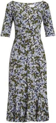 ERDEM Glenys floral-print jersey midi dress #erdem #dress #sale Japanese Textiles, Erdem, Dusty Blue, Hemline, Printer, Dresser, Floral Prints, Fashion Outfits, Formal Dresses