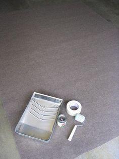 How to paint an indoor/outdoor rug.