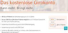 Cortal Consors - kostenloses Girokonto mit 50€ Guthaben + 50€ Cashback - weltweit kostenlos Bargeld abheben, keine Auslandseinsatzgebühr - m...