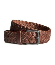 H&M Braided leather belt Braided Leather Belt, Leather Belts, Leather Gloves, Men's Belts, H&m Online, Metal Buckles, Belts For Women, Festival Fashion, Kids Fashion