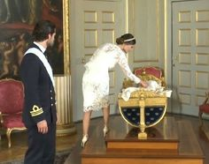 A few photos taken after the baptism of Prince Alexander of Sweden; Prince Carl Philip, Princess Sofia and their son Prince Alexander, Duke of Södermanland. (Christening ceremony: The Christening of Prince Alexander of Sweden