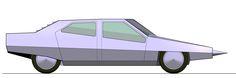 dystopian retro futuristic car ( 80s) Retro Futuristic