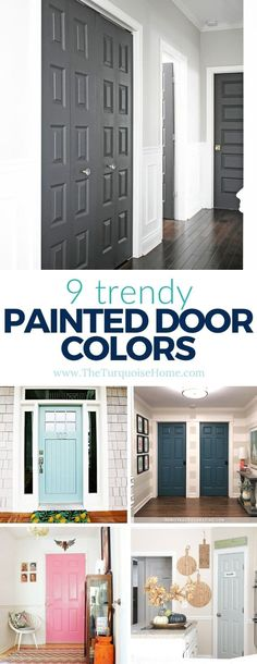A fun trend in the last few years is to paint interior doors with a non-white paint color. Learn more about this trend, how to make it work in your home, and get inspiration for some beautiful interior door colors you'll love. #diyhomedecor #diyhomedecoronabudget #intetiordoorpaintcolor Painted Interior Doors, Interior, Home, Painted Doors, Beautiful Interiors, Trendy Interiors, Doors Interior, Interior Door Colors, Diy Home Decor On A Budget
