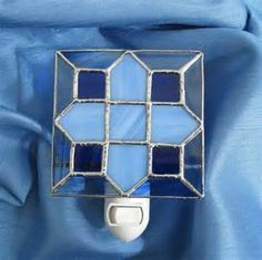 Blue Skies Stained Glass Night Light by hobbymakers on Etsy, $19.00