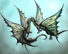Anne Stokes, Fantasy Kunst, Fantasy Art, Dragon Illustration, Dragon's Lair, Butterfly Dragon, Butterfly Wings, Dragon Artwork, Dragon Pictures