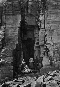 Old Photograph Scottish Tinkers Cave