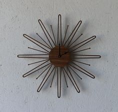 Hey, I found this really awesome Etsy listing at http://www.etsy.com/listing/118835831/mid-century-modern-inspired-clock