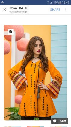 Orange on black beau Stylish Dress Designs, Stylish Dresses, Simple Dresses, Nice Dresses, Casual Dresses, Fashionable Outfits, Pakistani Dresses Casual, Pakistani Dress Design, Indian Dresses