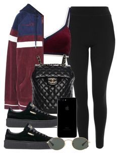 """""""#14700"""" by vany-alvarado ❤ liked on Polyvore featuring Topshop, Puma, Chanel and Ray-Ban"""
