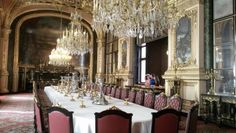 Napoleon III dining room shown at the Louvre